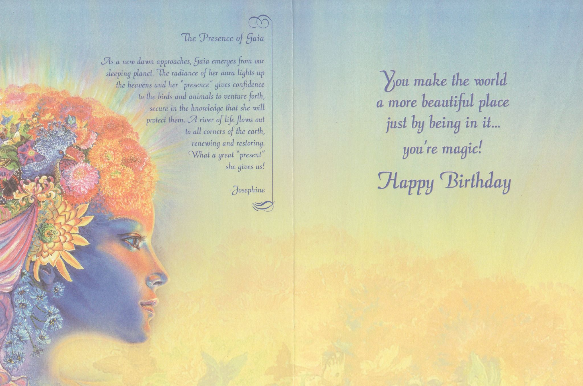 Birthday Card The Presence of Gaia Birthday Greetings Card by ...